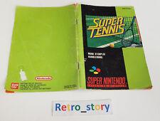 Super Nintendo SNES - Super Tennis Notice