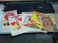 100 RADIOCANZONI CELEBRI serie completa Lotto di 5 numeri 1940/44