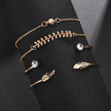 Bracelet Four-piece Combination Ladies Bracelet New Fashion Jewelry Leaf Shape