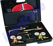 OXY OXYGEN ACETYLENE GAS WELDING WELD CUTTING WELDER TORCH TOOL GAUGE SET KIT