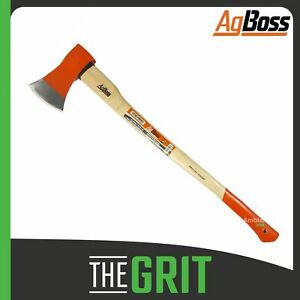AgBoss Axe 2kg Hickory Handle Polished Camping Firewood Log Wood Splitter