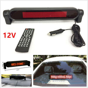 1x 12V Car Dash Scrolling LED Light Panel Display Editable Advertise Window Sign