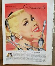 1953 Gemeinschaft Silberüberzug Coronation Morning Star Lady Hamilton Jon