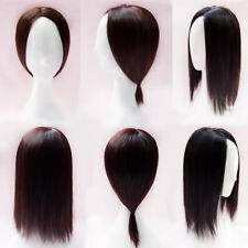 Women Natural Straight Synthetic Hair Topper Piece Toupee HairpieceFull Head Wig