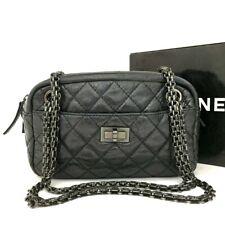 CHANEL 2.55 Quilted Matelasse CC Logo Crinkled Leather Mini Shoulder Bag / 2oCDE