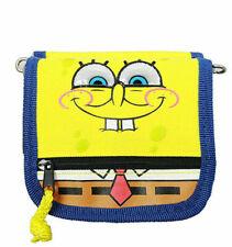 Sponge Bob String Wallet Mini Purse with Strap Nickelodeon Yellow Blue