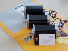 3 pcs Stepper motor Nema 23, 4 leads, bipolar, 425 oz.in=3NM dual shaft CNC