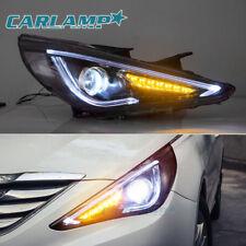 LED Headlights Audi Look For Hyundai Sonata 2011-2014 Projector Front Lamps