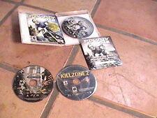 Mx vs Atv Crysis 2 and killzone 2 playstation 3 discs 1 with box