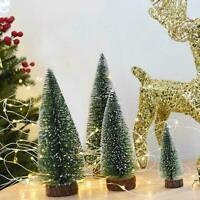 Mini Sisal Bottle Brush CHRISTMAS Tree Santa Frost Decor House Village G0F6