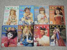 Discounted Dolls Magazine - Lot of 8 - 2001-2002 For anyone who loves Dolls
