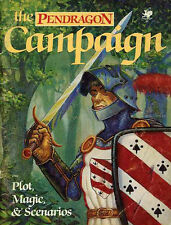 PENDRAGON CAMPAIGN PLOT MAGIC & SCENARIOS VGC! 2702 King Arthur Chaosium The