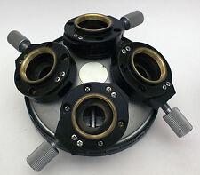 Nikon Optiphot RMS Nomarski DIC Objective Microscope Nosepiece 5 10 20 40 100