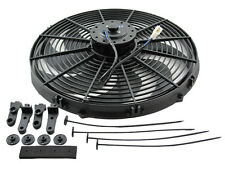 """Chevy Truck Radiator Fan 16"""" and Relay Wiring Kit- Reversible- Quiet """"S"""" Blade"""