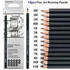14pcs Sketch Drawing Pencil Set Sketching Art Kit in Carry Case Pro