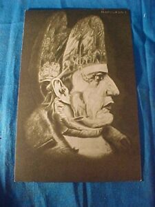 Early 20thc METAMORPHIC Illustrated POSTCARD of NAPOLEON I
