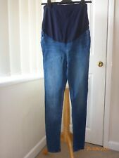 Seraphine mid blue skinny maternity jeans size 10