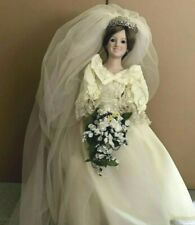 Danbury Mint Princess Diana Bride Royal Wedding Porcelain Doll. Coa