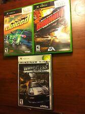 Three(3) Xbox games Juiced, Burnout Revenge, Wreckless NICE L@@K Xbox