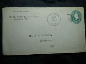 Antique Envelope 1897 Ohio Randolph 2 cents Stamp