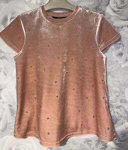 Girls age 8-9 years - Pretty Summer Velour Top - Excellent Condition