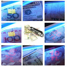 2 In 1 Led Handheld UV Light Torch Portable Fake Money ID Detector Lamp