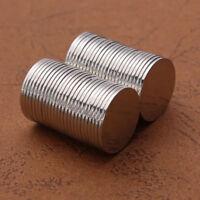 50 tlg Runder Starke Neodym Magnete NdFeB N50 Extrem Stark Scheibenmagne 15x1mm