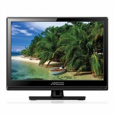 "NEW 13"" HDTV Flat Screen LED LCD TV AC and DC/Car Power Cord Remote Control"