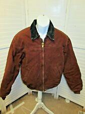 Carhartt brown insulated jacket work Chore corduroy collar size M