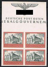 Generalgouvernement 125 U Viererblock postfrisch, Mi. 120,-