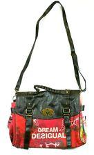 Desigual Damen Handtasche Schulter Tasche Shopper Dream Patch Rot Braun