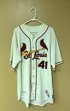 Pitcher John Lackey Game-Used St. Louis Cardinals Alternative Jersey 8/15/15 MLB