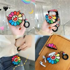 Colorful Flower Soft Silicone Protective Cover Case for Airpods 1/2 Charging Box
