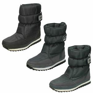 Mens Reflex Hock & Loop Strap Nylon Winter Snow Boots A3R015