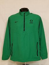 Oregon DUCKS Enrollment Management NIKE 1/4 Zip Up JACKET Pullover COAT Men's M