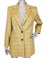 VTG Escada Margaretha Ley Placenza Windowpane Angora Wool Blazer Jacket
