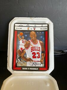 "Michael Jordan ""TAKING IT PERSONALLY"" Collector Plate Bradford EX/Upper Deck"