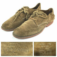 Sperry Top Sider Mens 11M Brown Suede Wingtip Casual Oxfords Shoes - NEW Insoles