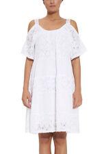 Kurzarm Damenkleider im Tuniken-Stil aus Baumwolle