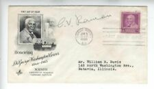 SUPERB CV Raman Nobel Prize autograph on FDC George Washington Carver ink 1948