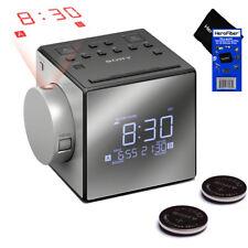 Sony Dual Projector Alarm Clock w/ Ext.Snooze, 5 Nature Sounds, USB Port +2 Batt