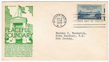 First day cover, Scott #961, US-Canadian friendship, Anderson cachet, 1948