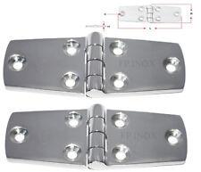 Charnière inox 102x38mm Epaisseur 4,5mm ( Lot de  2 ) inox A4 - 316