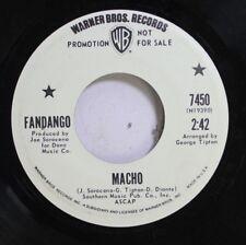Rock Promo 45 Fandango - Macho / Mano De Gato On Warner Bros. Records