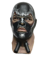 Bane Deluxe Overhead Latex Mask, Mens Arkham City Costume Accessory