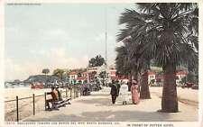 Santa Barbara California Blvd Los Banos Del Mar Antique Postcard K39393
