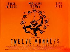 "Twelve Monkeys 16"" x 12"" Reproduction Movie Poster Photograph"