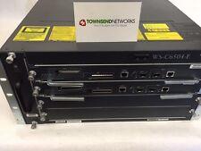Cisco WS-C6504-E w/ (2) WS-SUP720-3BXL DUAL AC ***Tested/Warranty***