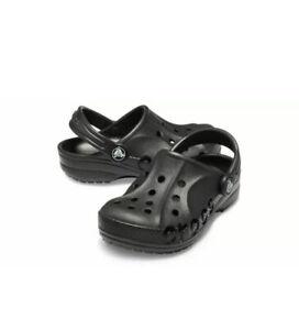 Crocs Kids Unisex Sz 13c  Crocs Baya Clog K(Toddler/Little Kid) SOLID BLACK  NWT
