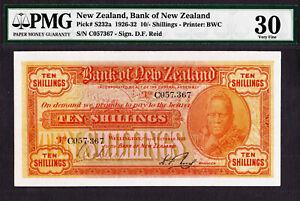 New Zealand 10/- Shillings 1929 Pick-S232a Very Fine PMG 30
